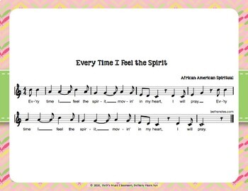 Every Time I Feel the Spirit - African American Spiritual with Orff Arrangement