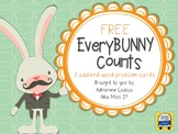 EveryBUNNY Counts FREE 3 addend word problem cards