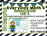 EveryDay Math 4| Unit 2 En Español| Gr. 2| Smartboard, Powerpoint, Worksheets