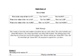 EveryDay Math Unit 2 Notes Sheets: 4th Grade