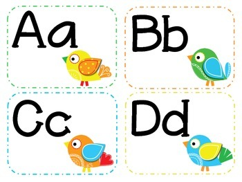 Everybirdy's Happy Decor Pack/Word Wall Letters
