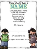 Everybody Has a Name Poem FREEBIE