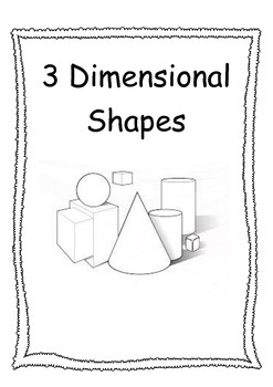Everyday 3D Shapes Posters Black and White