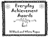 Everyday Achievement Awards-Set 1
