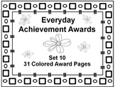 Everyday Achievement Awards-Set 10