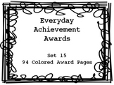 Everyday Achievement Awards-Set 15