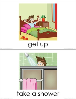 Everyday Activities (set I) Picture Flashcards