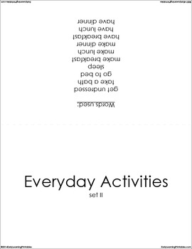 Everyday Activities (set II) Picture Flashcards