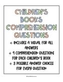 Everyday Childrens Book Comprehension Questions (18 Books)