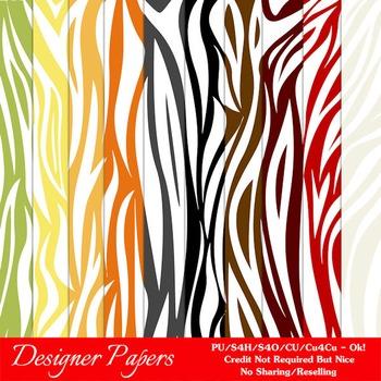Everyday Colors Animal Patterns Digital Backgrounds pkg 1