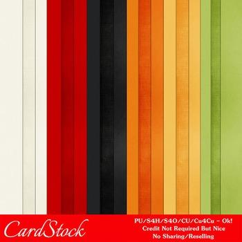 Everyday Colors Cardstock Digital Papers package 1