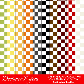 Everyday Colors Checks Pattern Digital Backgrounds pkg 1