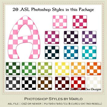 Everyday Colors Checks Pattern Photoshop Styles