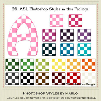 Everyday Colors Checks Pattern Photoshop Styles