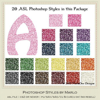 Everyday Colors Glitter Pattern Photoshop Styles