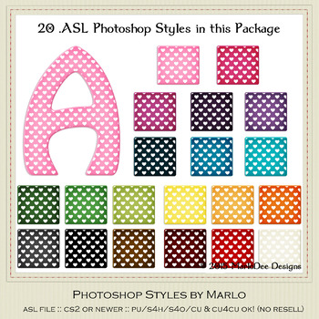 Everyday Colors Hearts Pattern Photoshop Styles