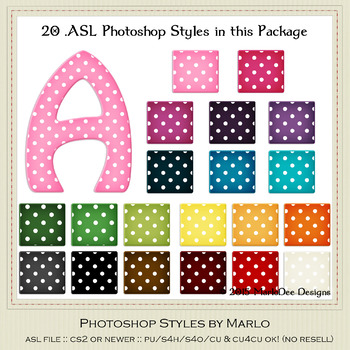 Everyday Colors Polka Dots Pattern Photoshop Styles