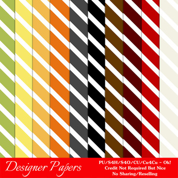 Everyday Colors Stripes Pattern Digital Backgrounds pkg 1