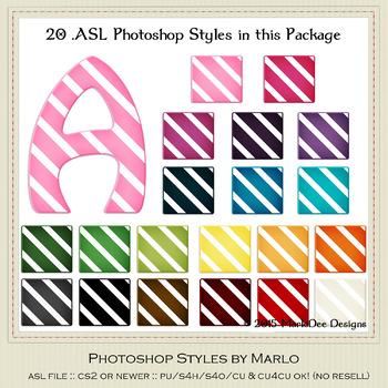 Everyday Colors Stripes Pattern Photoshop Styles