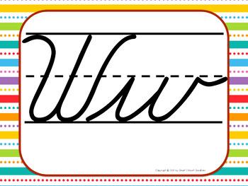 Everyday Cursive Alphabet Posters
