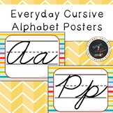Everyday Cursive Alphabet Posters