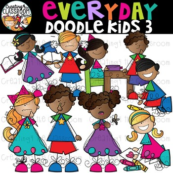 Everyday Doodle Kids 3 Clip Art {Kid Clip Art}