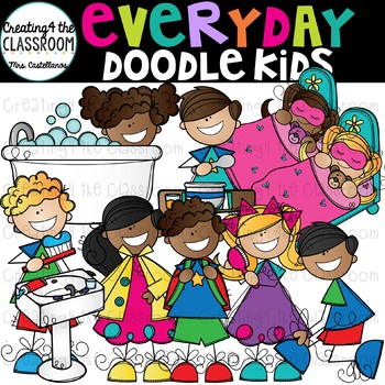 Everyday Doodle Kids Clip Art {Kid Clip Art}