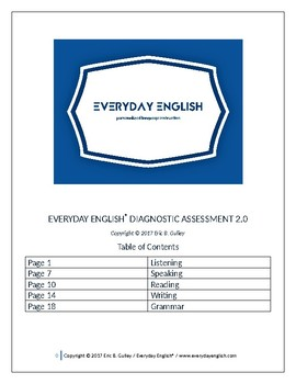 Everyday English® Diagnostic Assessment & Answer Key