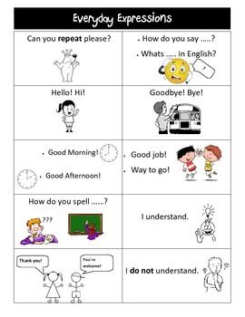 Everyday Expressions ESL