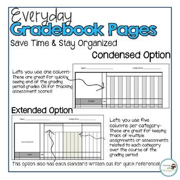 Everyday Gradebook Pages