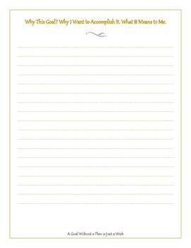 My Purposeful Plans Goal Tracking Journal