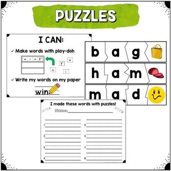 Word Work Centers {Short Vowels & CVC Words}