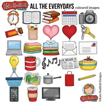 """Everyday / Household Objects Clip Art: """"All The Everydays"""""""