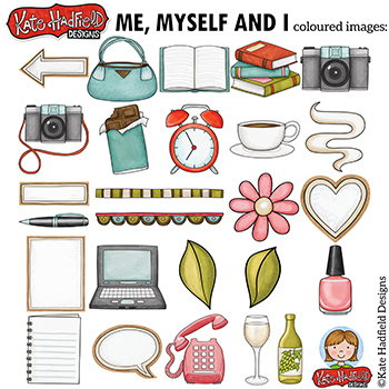 "Everyday / Household Objects Clip Art: ""Me, Myself and I"""