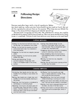 Everyday Household Tasks: Cooking-Following Recipe Directions
