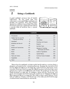 Everyday Household Tasks: Cooking-Using a Cookbook