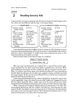 Everyday Household Tasks: Grocery Shopping-Reading Grocery Ads