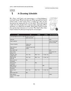 Everyday Household Tasks: Home Maintenance and Decorating-A Cleaning Schedule