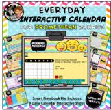 Everyday Interactive Calendar for PROMETHEAN Board PK, K, 1st EMOJI THEME