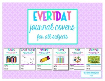 Everyday Journal Covers for All Subjects