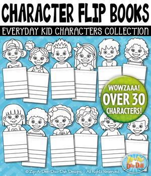 Kid Characters Flip Books Templates {Zip-A-Dee-Doo-Dah Designs}