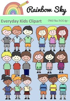 Everyday Kids Clipart - Set for Teachers