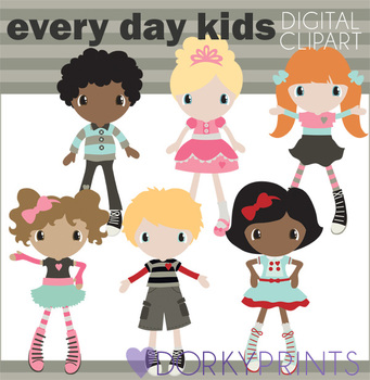 Everyday Kids Digital Clip Art Images
