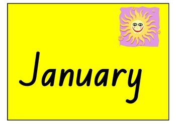 Everyday Learning - includes months for birthday chart!