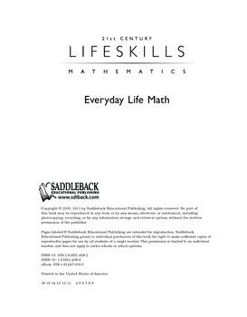 Everyday Life Math (21st Century Lifeskills Mathematics)