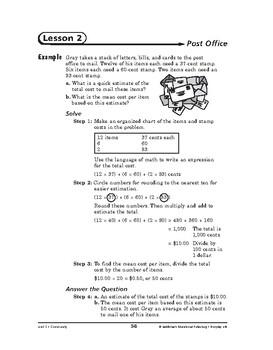 Everyday Life Math: Community-Post Office