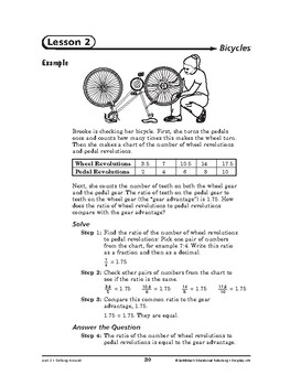 Everyday Life Math: Getting Around-Bicycles