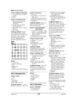 Everyday Life Math: Getting Around-Bus Schedules