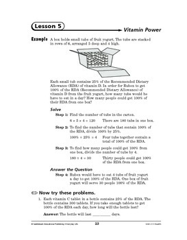 Everyday Life Math: Health-Vitamin Power