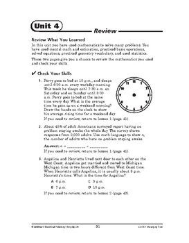Everyday Life Math: Managing Time-REVIEW
